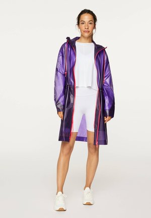 TRANSPARENTER REGENMANTEL - Waterproof jacket - dark purple