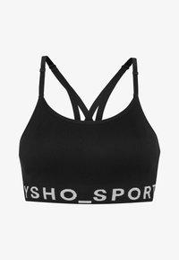 OYSHO_SPORT - MIT LOGO  - Sport BH - black - 5
