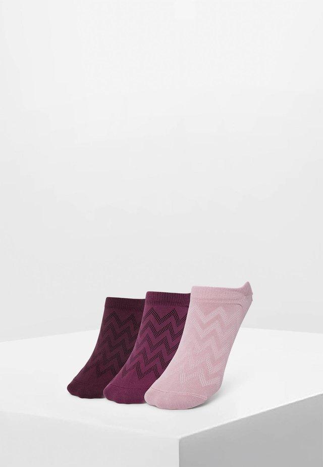 3PACK - Trainer socks - mauve