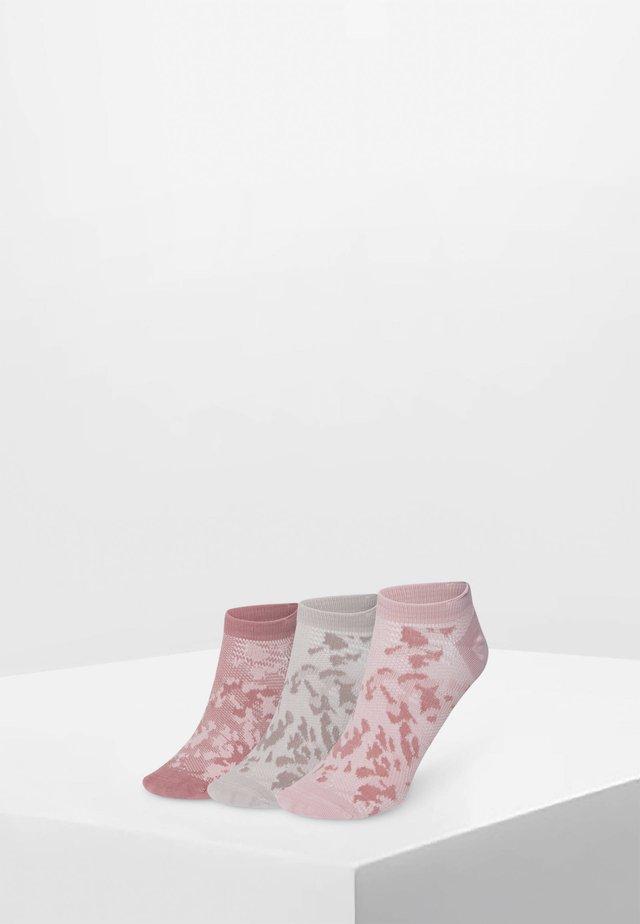 3 PAAR  - Varrettomat sukat - rose