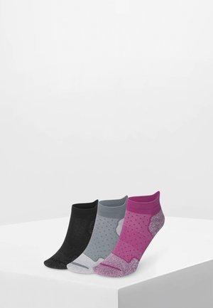 3 PACK - Enkelsokken - grey / rose / black