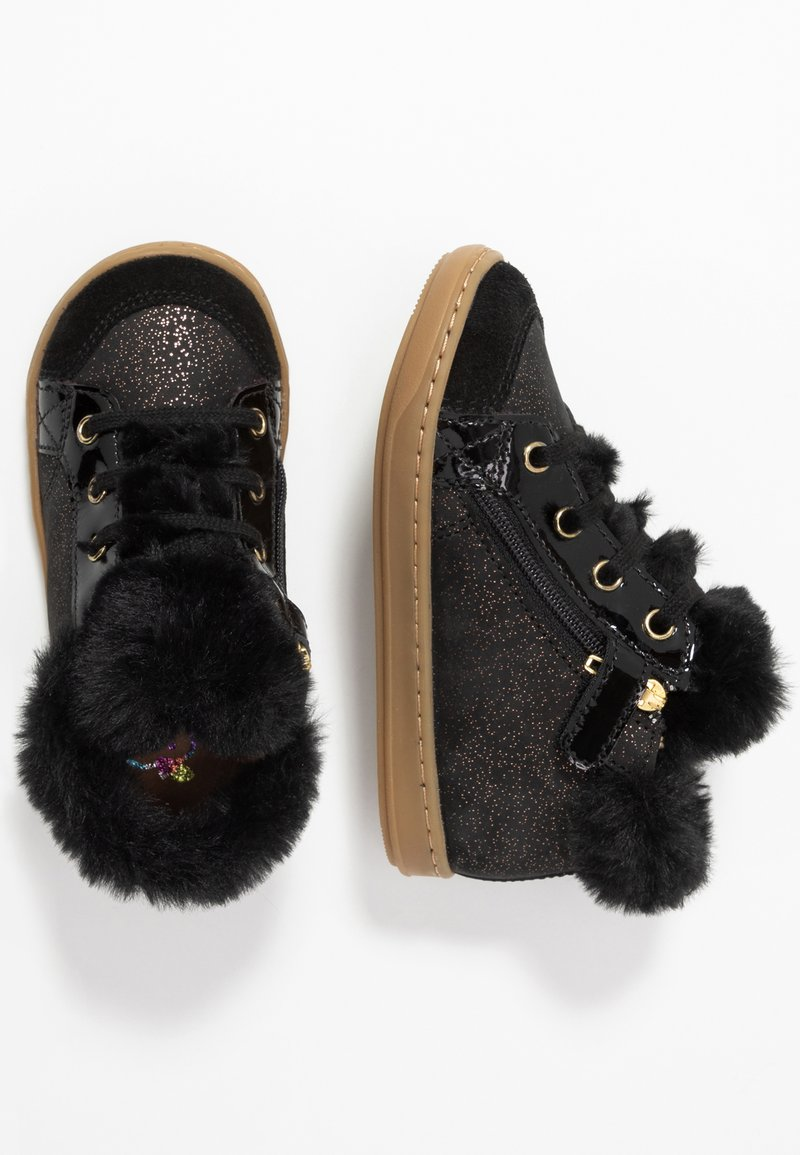 Shoo Pom - BOUBA ZIP - Lace-ups - black/gold