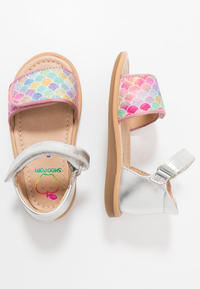 TITY SCRATCH - Sandals - silver/multicolor