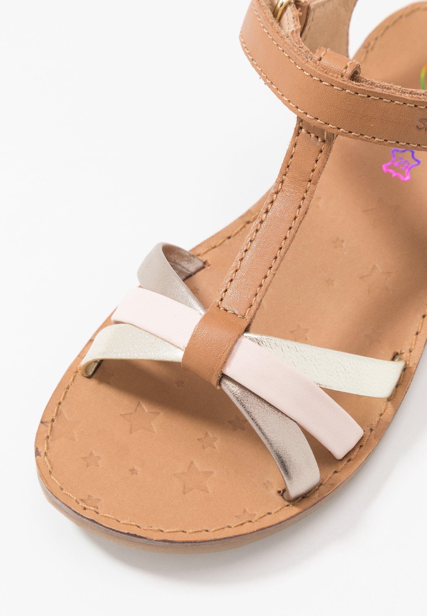Shoo Pom HAPPY SALOME - Sandały - camel/platine/pink