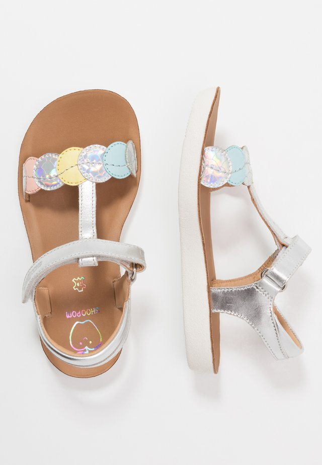 GOA DOTS - Sandals - silver/multicolor