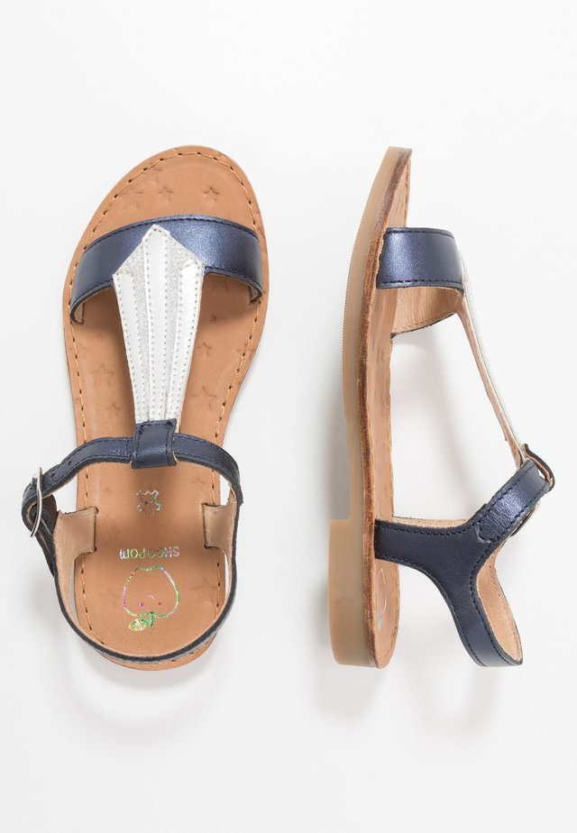 HAPPY TIE - Sandals - navy/silver