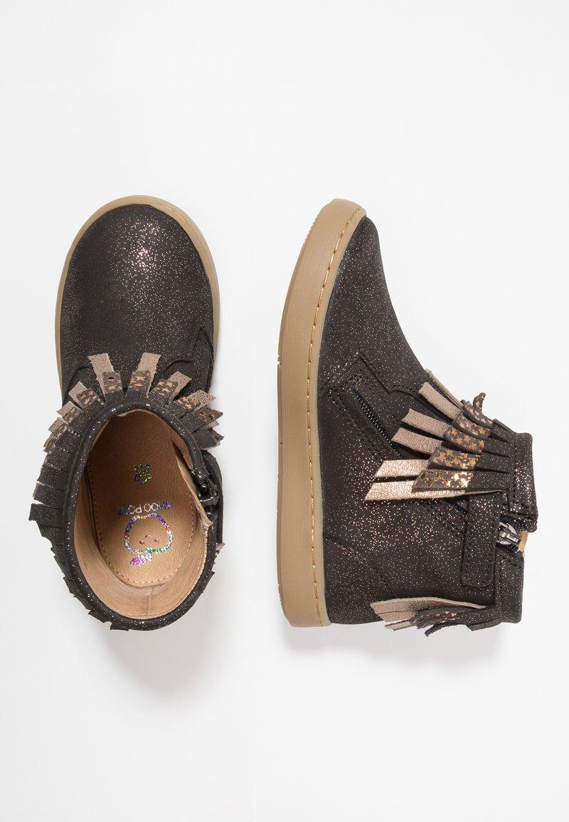 Shoo Pom - PLAY HURON - Cowboy/biker ankle boot - black/multicolor