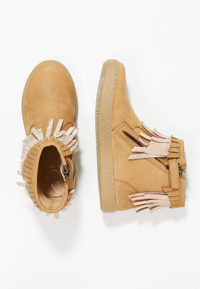 PLAY HURON - Bottines - camel/cooper multi