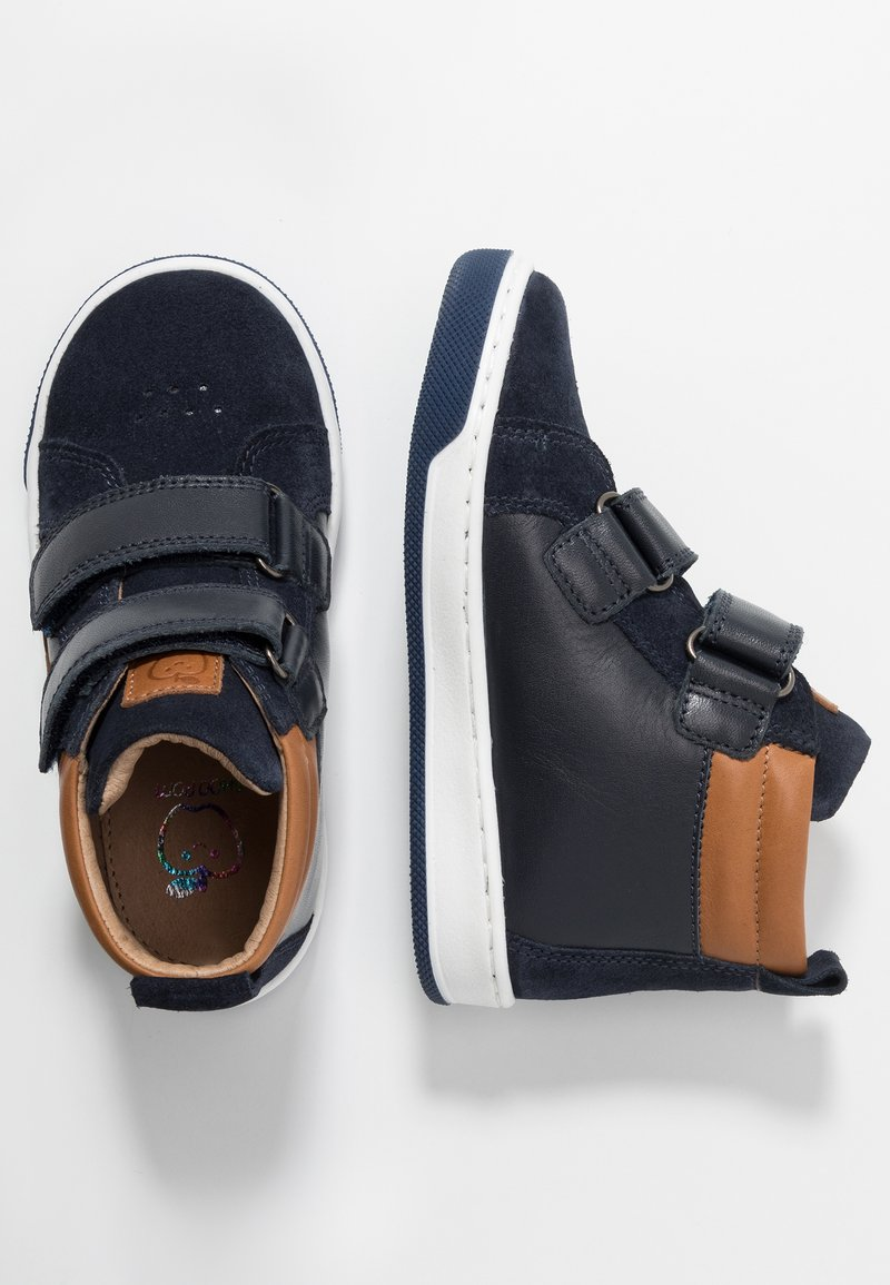 Shoo Pom - DUDE SCRATCH - High-top trainers - navy/ocre /camel
