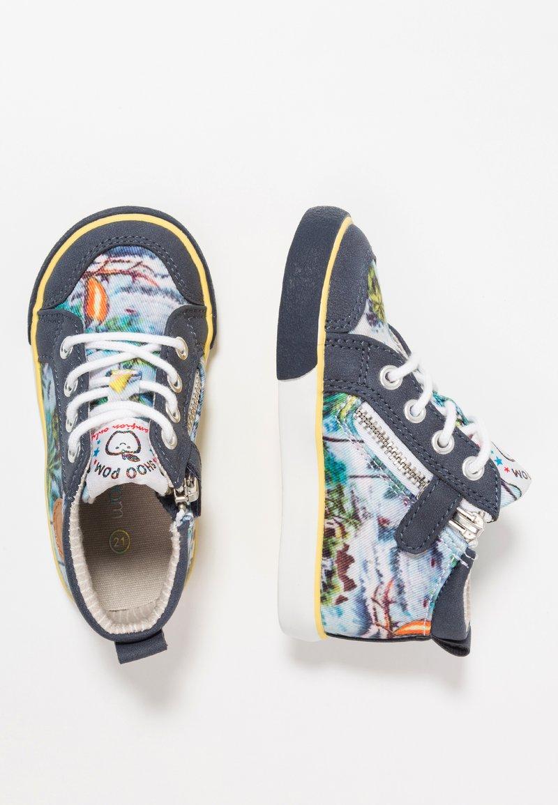 Shoo Pom - ZIP BASKET - Baby shoes - multicolor/navy