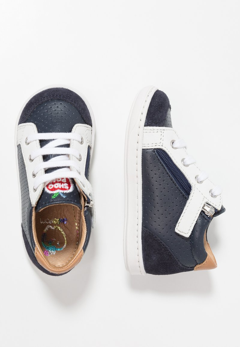 Shoo Pom - BOUBA ZIP BOX - Baby shoes - navy /white