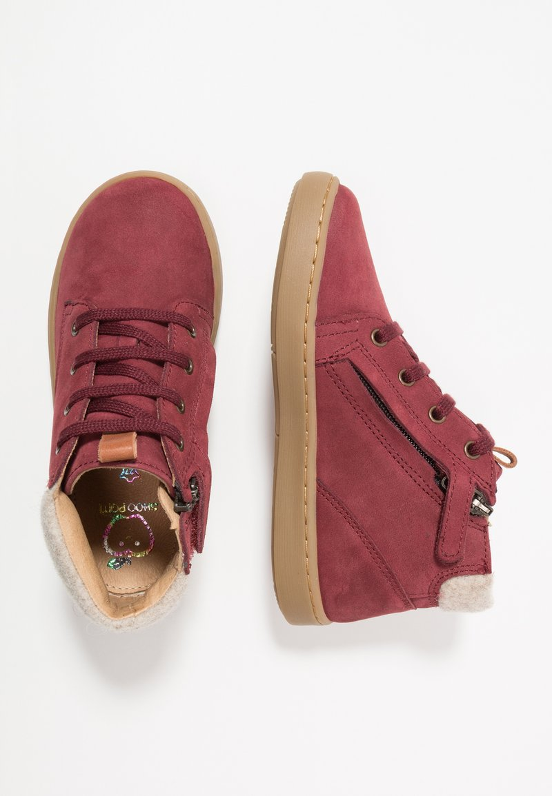 Shoo Pom - PLAY DESERT - Casual lace-ups - bordeaux/ecru