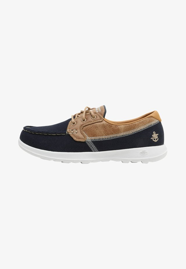 GO WALK LITE - Walking trainers - navy/white
