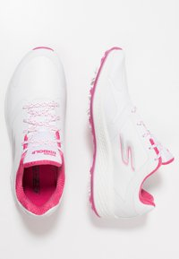Skechers Performance - GO GOLF EAGLE PRO - Zapatos de golf - white/pink - 1