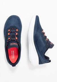 Skechers Performance - GO RUN FAST - Walking trainers - navy/coral - 1