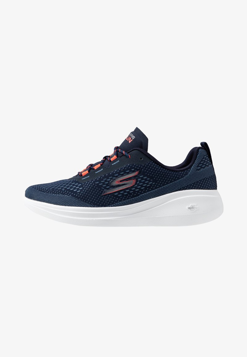 Skechers Performance - GO RUN FAST - Walking trainers - navy/coral