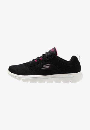 GO WALK EVOLUTION ULTRA - Neutral running shoes - black/pink