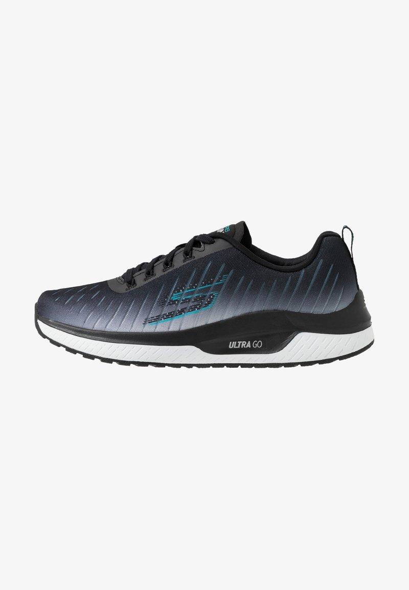 Skechers Performance - GO RUN STEADY - Walkingschuh - black/turquoise