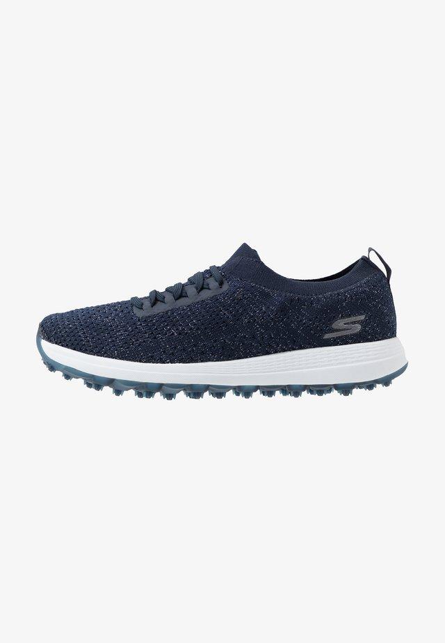 MAX GLITTER - Golf shoes - navy/white