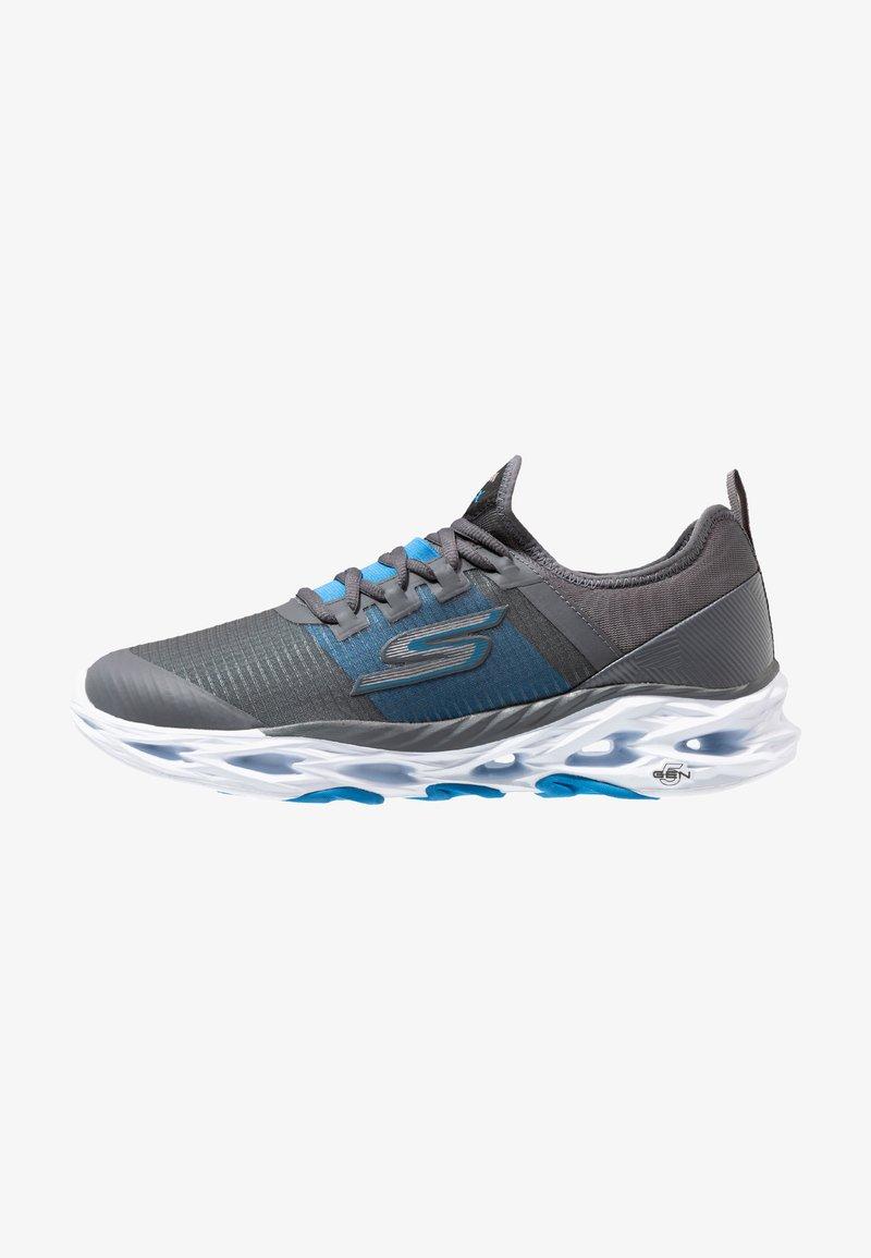 Skechers Performance - GO RUN VORTEX-STORM - Neutrala löparskor - charcoal/blue