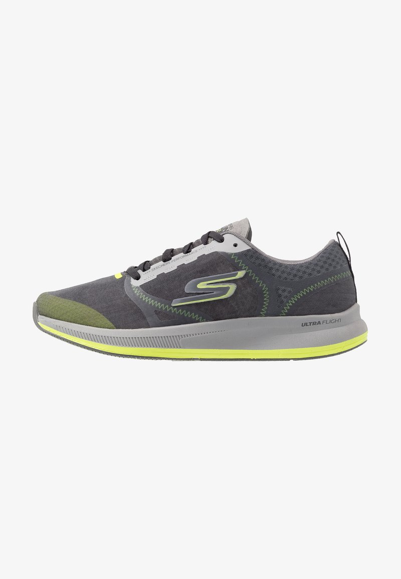 Skechers Performance - GO RUN PULSE - Obuwie do biegania treningowe - charcoal/lime