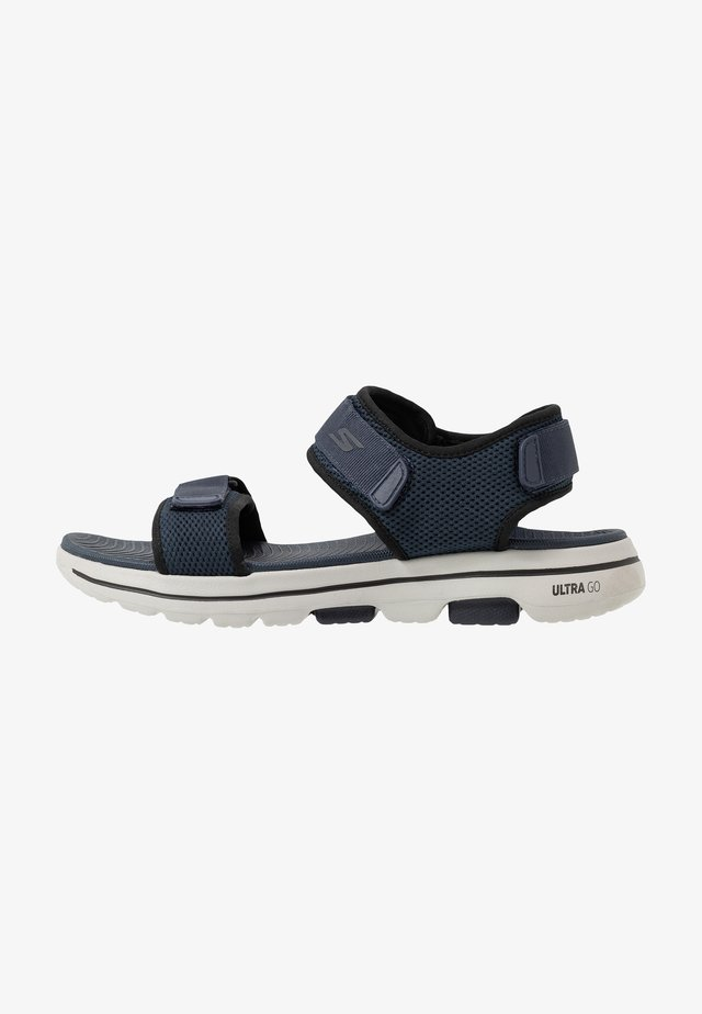 GO WALK 5 - Walking sandals - navy/black