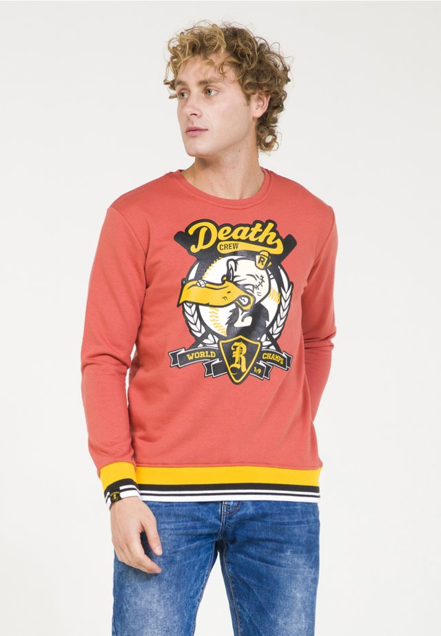 Sweatshirt - brick-red