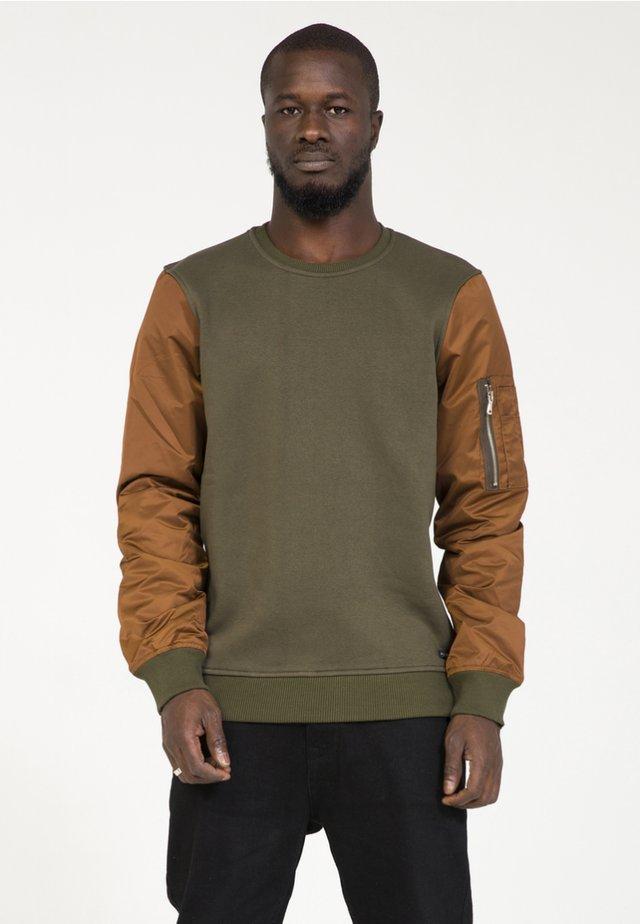 Sweatshirt - khaki