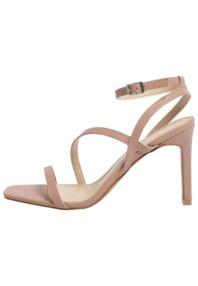 High heeled sandals - zartrosa