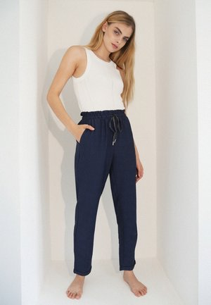 Trousers - marineblau