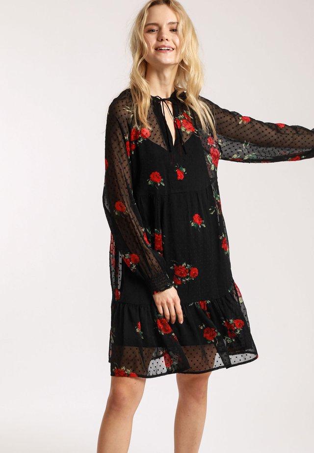 Korte jurk - black\red