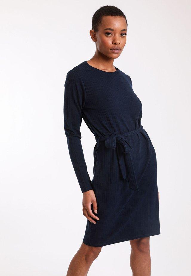 Gebreide jurk - navy blue