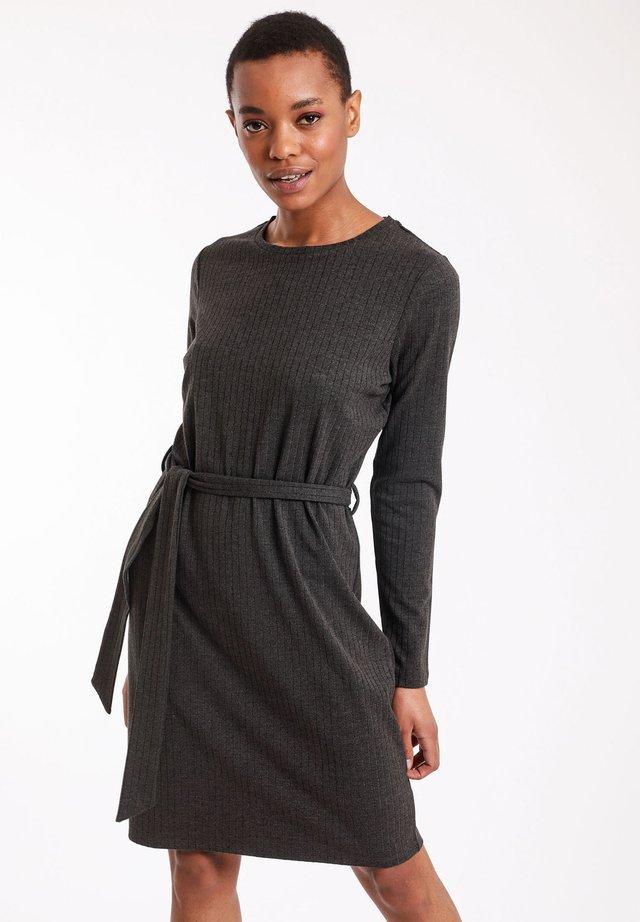 Gebreide jurk - anthracite grey
