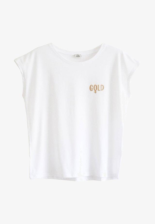T-shirt imprimé - naturweiß