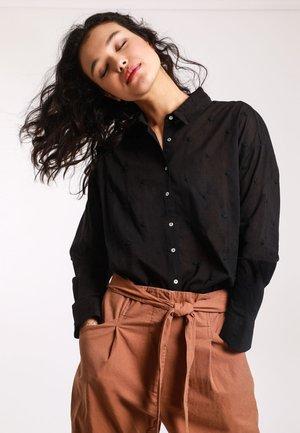 MIT MOTIV - Button-down blouse - black