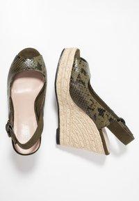 PARFOIS - Højhælede sandaletter / Højhælede sandaler - khaki - 3