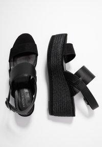 PARFOIS - Sandály na platformě - black - 3