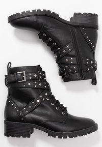 PARFOIS - Cowboy- / bikerstøvlette - black - 3