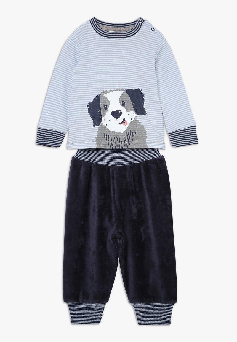 People Wear Organic - HUNDEWELPE SET BABY - Stoffhose - hellblau