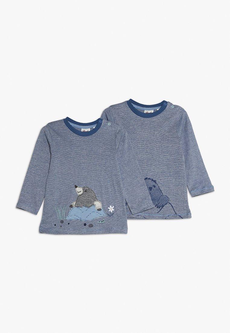 People Wear Organic - LONGSLEEVE BABY 2 PACK - Långärmad tröja - blue