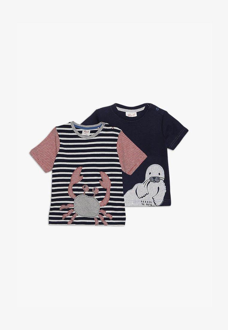 People Wear Organic - BABY 2 PACK - T-Shirt print - dark blue