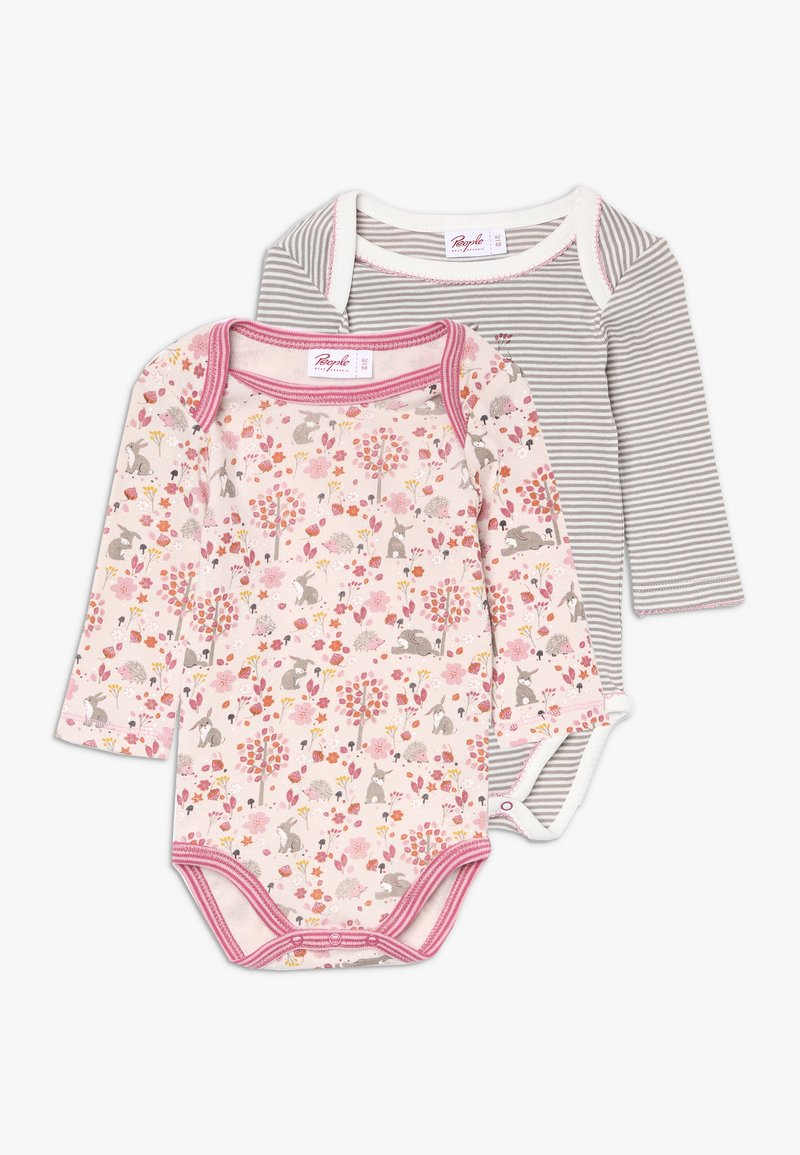 People Wear Organic - BABY 2 PACK - Body - hellrosa