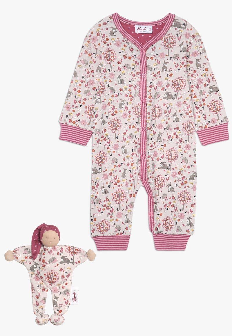People Wear Organic - OVERALL + MANDERL SET BABY - Pyjama - hellrosa