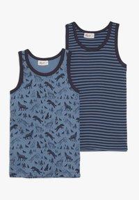 People Wear Organic - 2 PACK - Undershirt - dunkelblau/blau - 0