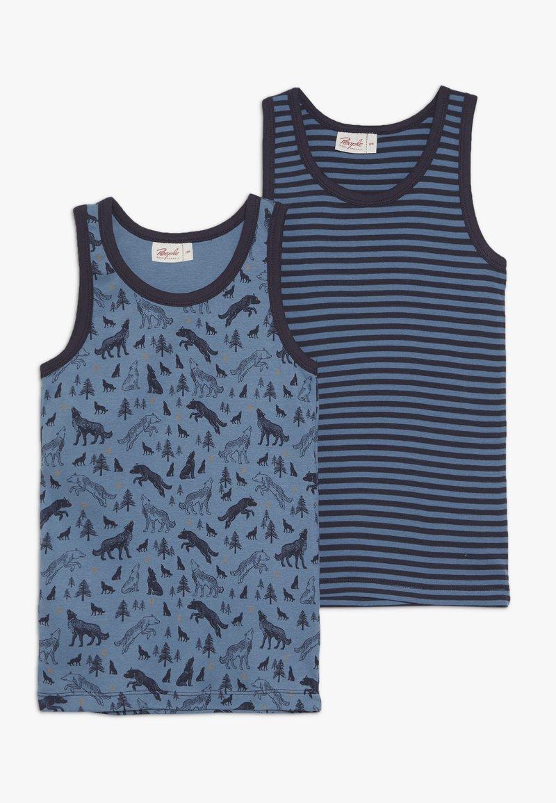 People Wear Organic - 2 PACK - Undershirt - dunkelblau/blau