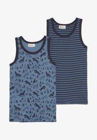 People Wear Organic - 2 PACK - Undershirt - dunkelblau/blau - 3