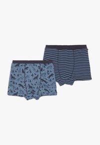 People Wear Organic - BOXERSHORTS 2 PACK - Pants - blau/dunkelblau - 0