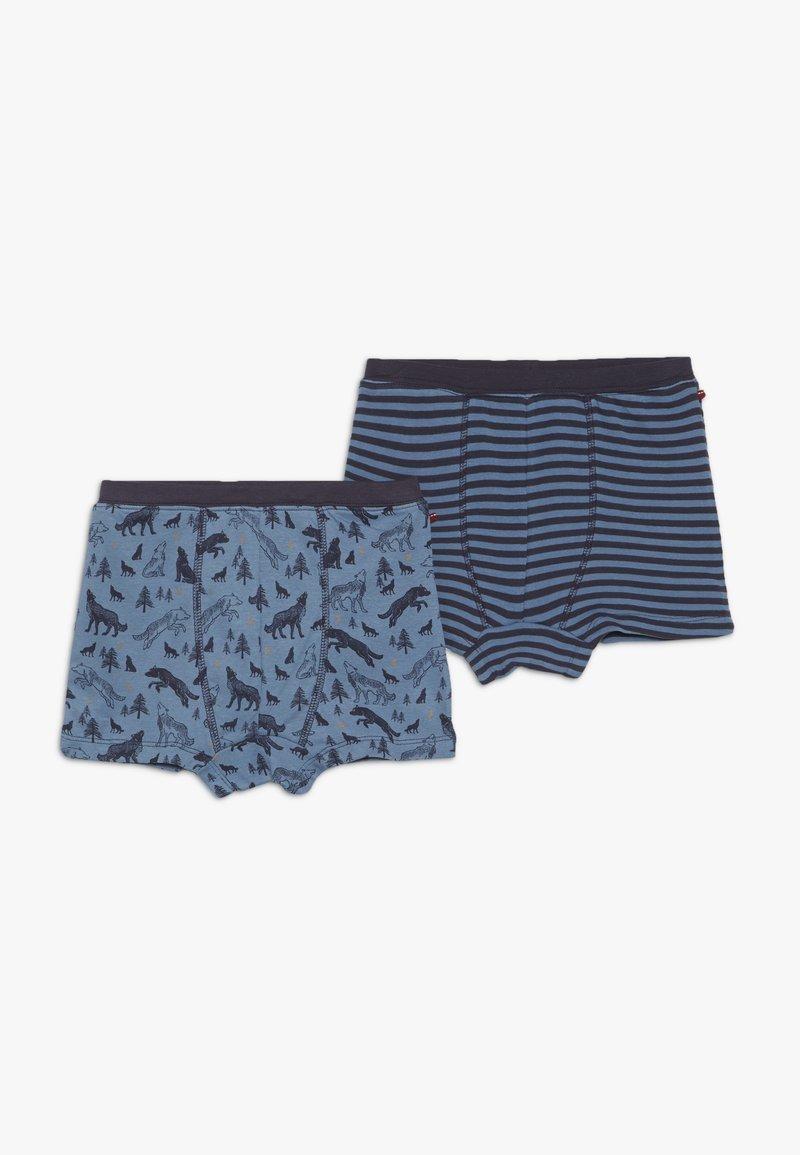 People Wear Organic - BOXERSHORTS 2 PACK - Pants - blau/dunkelblau