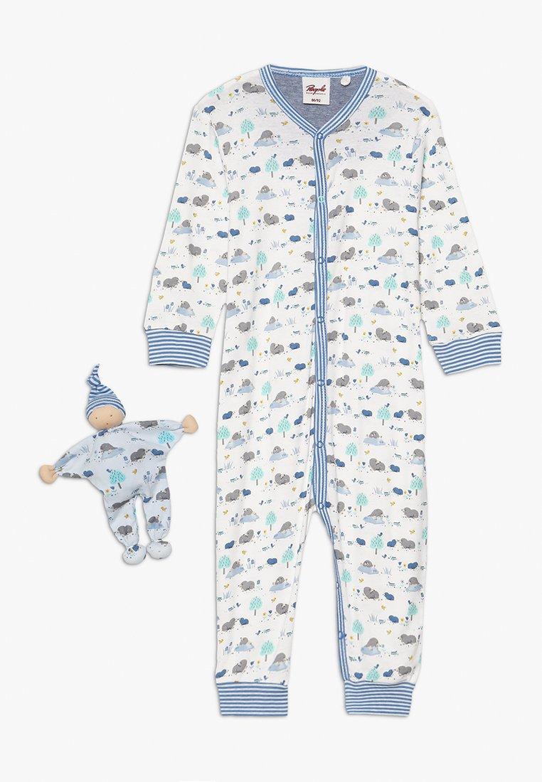 People Wear Organic - OVERALL PUPPE BABY SET - Pyjama - blue