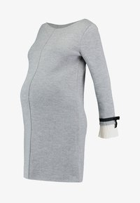 Pietro Brunelli - MAINFIELD - Stickad klänning - light grey melange - 4